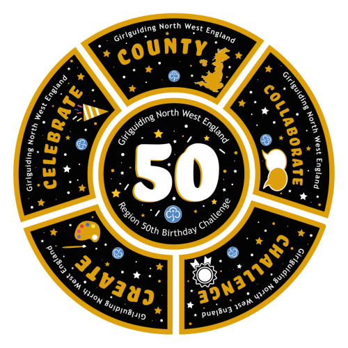 50th Birthday Challenge badges